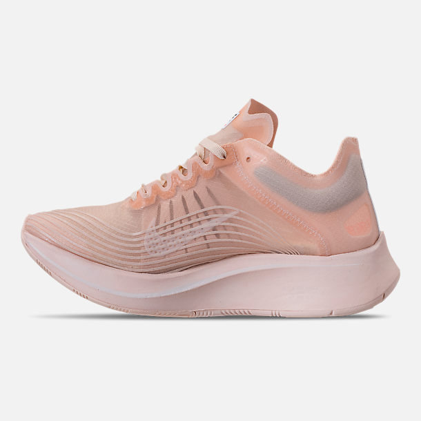 Left view of Women's Nike Zoom Fly SP Running Shoes in Guava Ice/White/Guava Ice