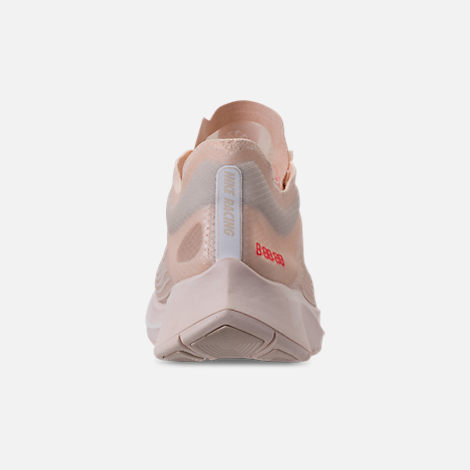 Back view of Women's Nike Zoom Fly SP Running Shoes in Guava Ice/White/Guava Ice