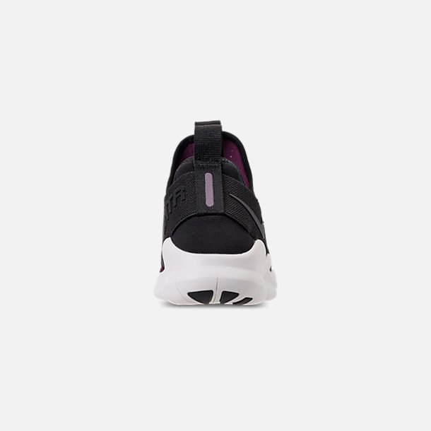 Back view of Women's Nike Free RN Commuter 2018 Premium Running Shoes in Black/Black/Bordeaux/Sail