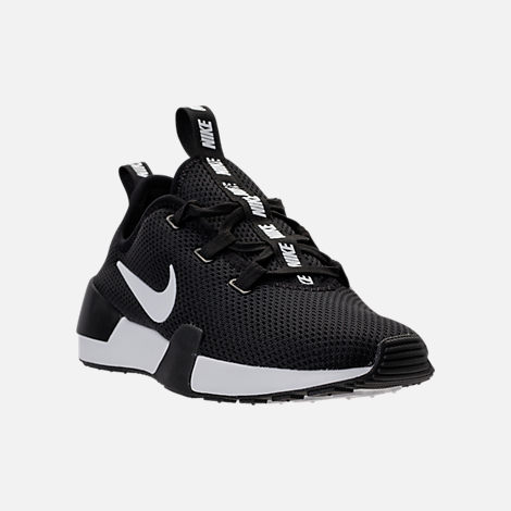 Three Quarter view of Women's Nike Ashin Modern Casual Shoes in Black/Summit White