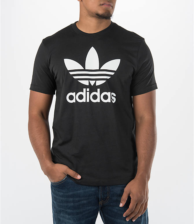 Detail 1 view of Men's adidas Originals Trefoil T-Shirt in Black