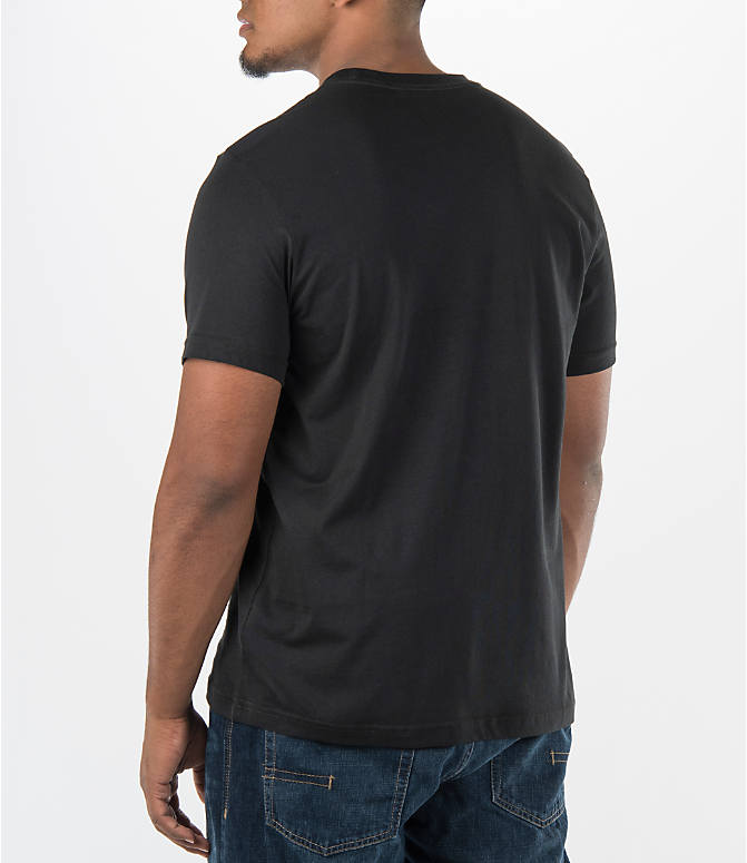 Back Left view of Men's adidas Originals Trefoil T-Shirt in Black