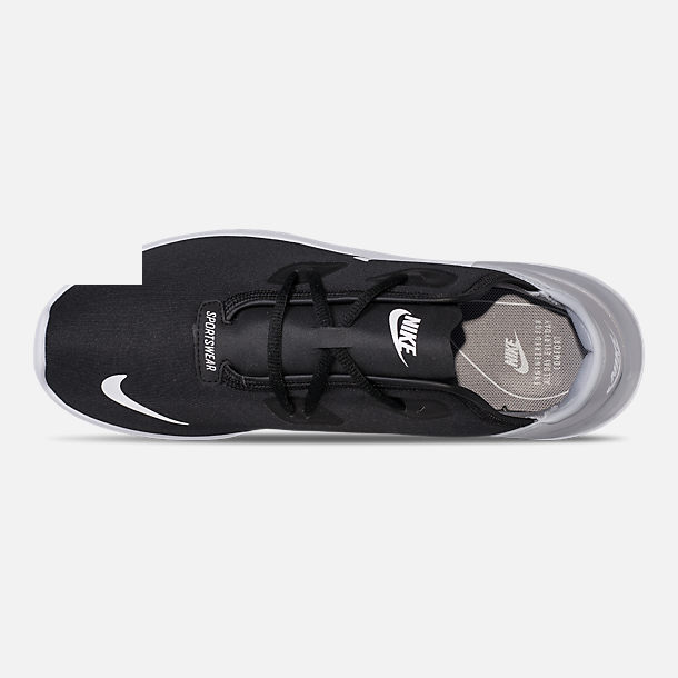Top view of Men's Nike Hakata Casual Shoes in Black/White/Wolf Grey