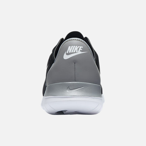 Back view of Women's Nike Hakata Casual Shoes in Black/White/Wolf Grey