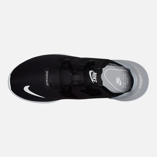 Top view of Women's Nike Hakata Casual Shoes in Black/White/Wolf Grey