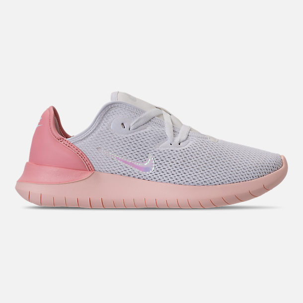 Right view of Women's Nike Hakata Casual Shoes in White/Bleached Coral/Sunset Tint