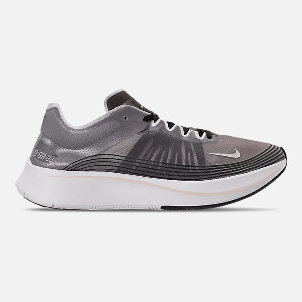 e1b4bed8417ad Right view of Unisex Nike Zoom Fly SP Running Shoes in Black Light Bone