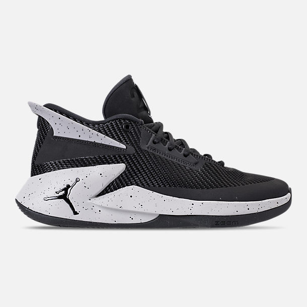 Right view of Men's Air Jordan Fly Lockdown Basketball Shoes in Black/Tech Grey