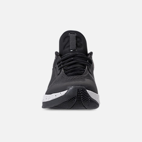 Front view of Men's Air Jordan Fly Lockdown Basketball Shoes in Black/Tech Grey