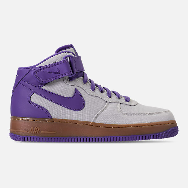 Right view of Men's Nike Air Force 1 Mid '07 TXT Casual Shoes in Light Bone/Dark Iris/Summit White