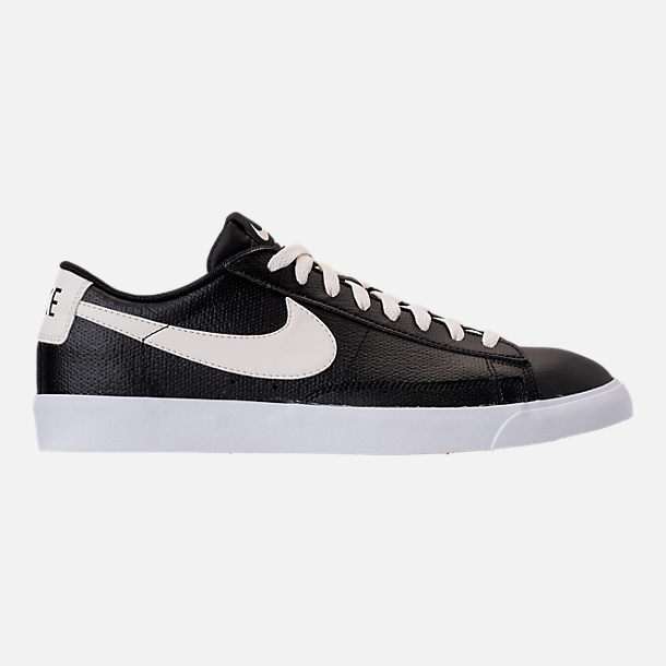 Right view of Men's Nike Blazer Low Leather Casual Shoes in Black/Sail/Gum
