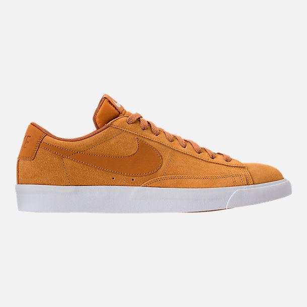 Right view of Men's Nike Blazer Low Suede Casual Shoes in Desert Ochre/Sail