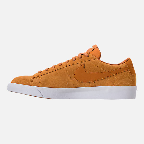 Left view of Men's Nike Blazer Low Suede Casual Shoes in Desert Ochre/Sail