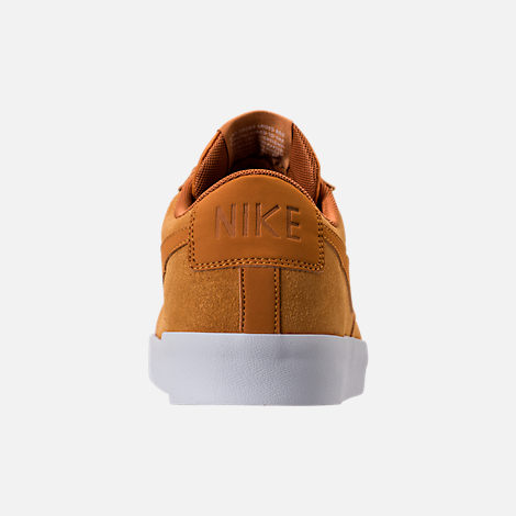 Back view of Men's Nike Blazer Low Suede Casual Shoes in Desert Ochre/Sail
