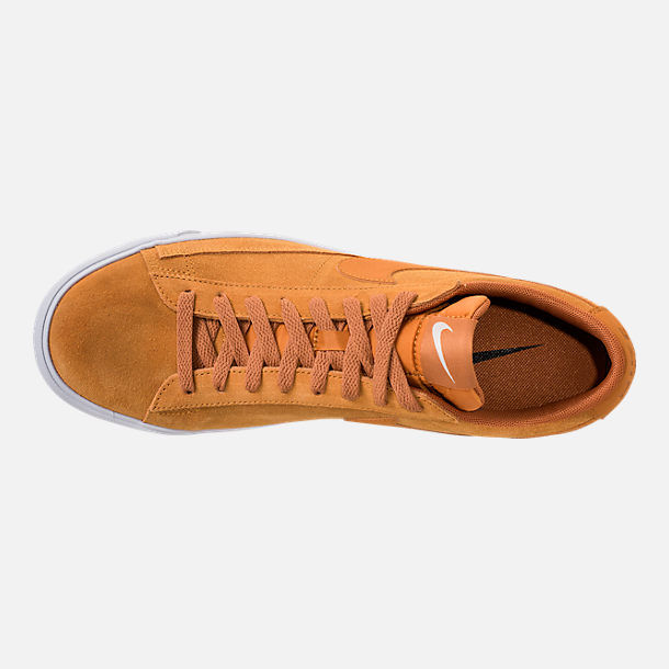 Top view of Men's Nike Blazer Low Suede Casual Shoes in Desert Ochre/Sail