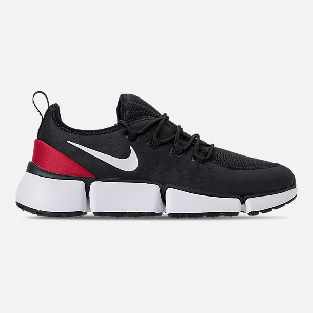 Right view of Men's Nike Pocket Fly DM Running Shoes in Black/White/Varsity Red