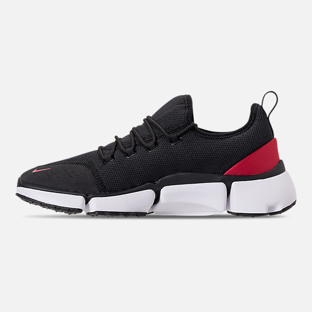 Left view of Men's Nike Pocket Fly DM Running Shoes in Black/White/Varsity Red