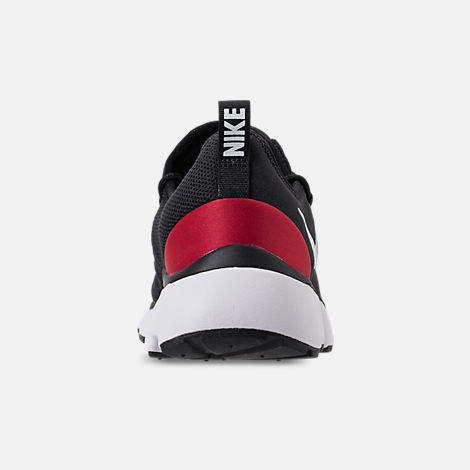 Back view of Men's Nike Pocket Fly DM Running Shoes in Black/White/Varsity Red