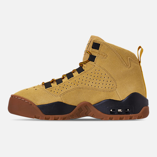 big sale 90164 89d35 ... ebay left view of mens nike air darwin basketball shoes in dark russet  black wheat d02b4