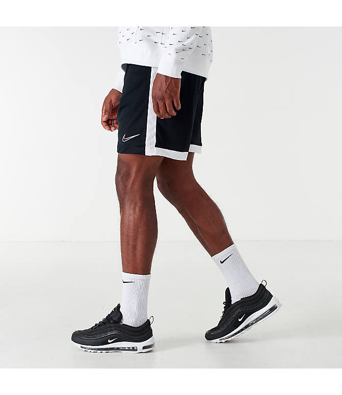 Front view of Men's Nike Dri-FIT Academy Soccer Shorts in Black/White