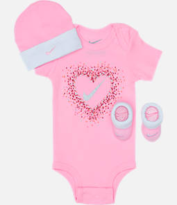 Girls' Infant Nike Glitter Hearts 3-Piece Box Set