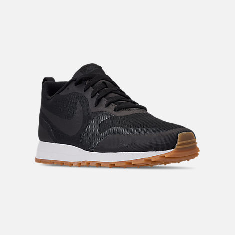 Three Quarter view of Men's Nike MD Runner 2019 Casual Shoes in Black/Anthracite/Gum