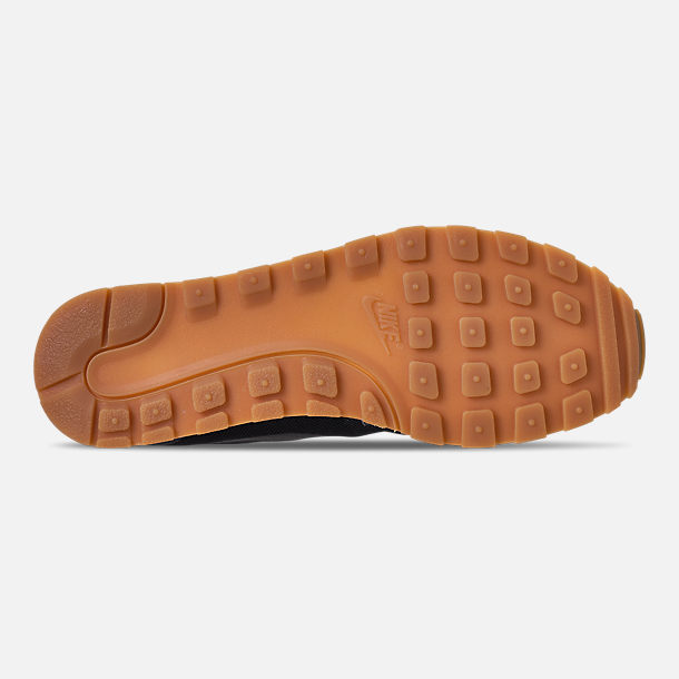 Bottom view of Men's Nike MD Runner 2019 Casual Shoes in Black/Anthracite/Gum