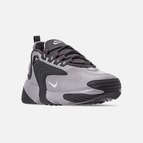 Three Quarter view of Men's Nike Zoom 2K Casual Shoes in Black/White