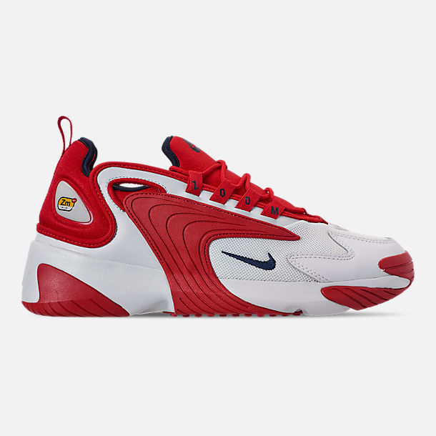 Right view of Men's Nike Zoom 2K Casual Shoes in White/Red