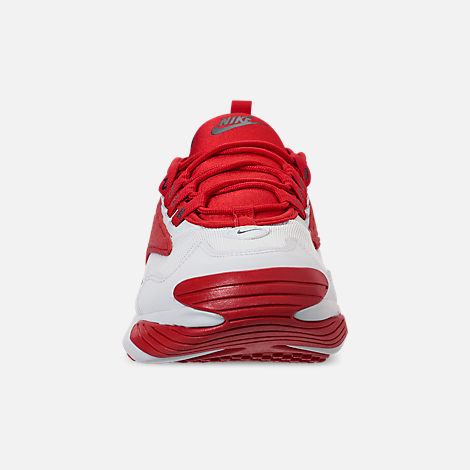 Front view of Men's Nike Zoom 2K Casual Shoes in White/Red
