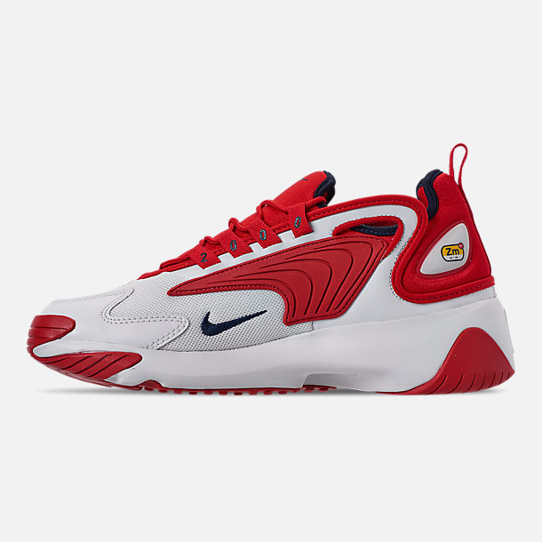 Left view of Men's Nike Zoom 2K Casual Shoes in White/Red