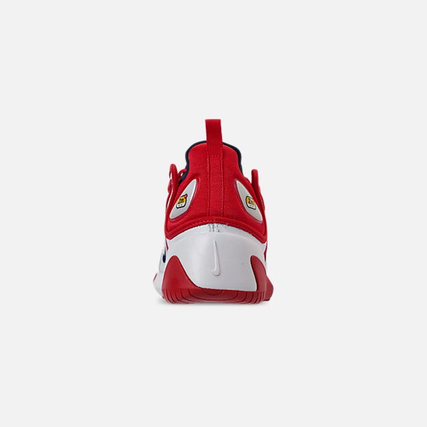 Back view of Men's Nike Zoom 2K Casual Shoes in White/Red
