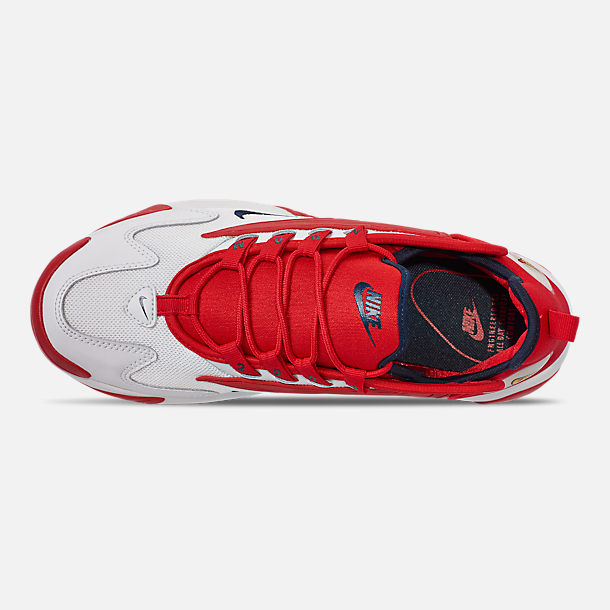 Top view of Men's Nike Zoom 2K Casual Shoes in White/Red