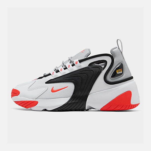 Right view of Men's Nike Zoom 2K Casual Shoes in White/Infrared 23/Wolf Grey/Black