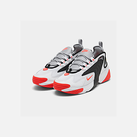Three Quarter view of Men's Nike Zoom 2K Casual Shoes in White/Infrared 23/Wolf Grey/Black