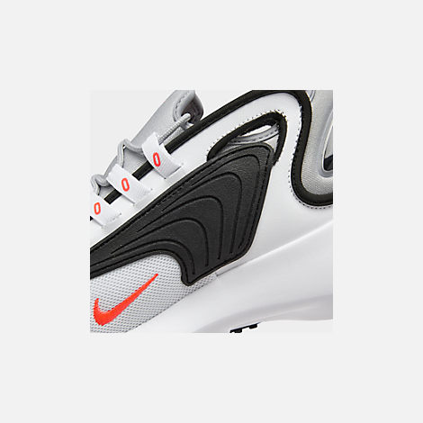 Front view of Men's Nike Zoom 2K Casual Shoes in White/Infrared 23/Wolf Grey/Black
