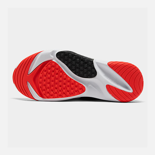 Bottom view of Men's Nike Zoom 2K Casual Shoes in White/Infrared 23/Wolf Grey/Black