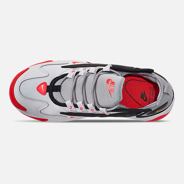 Top view of Men's Nike Zoom 2K Casual Shoes in White/Infrared 23/Wolf Grey/Black