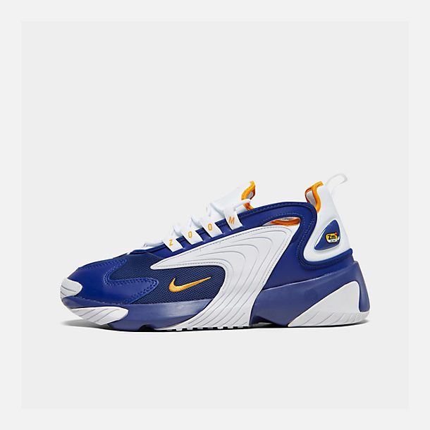 Right view of Men's Nike Zoom 2K Casual Shoes in Blue/White