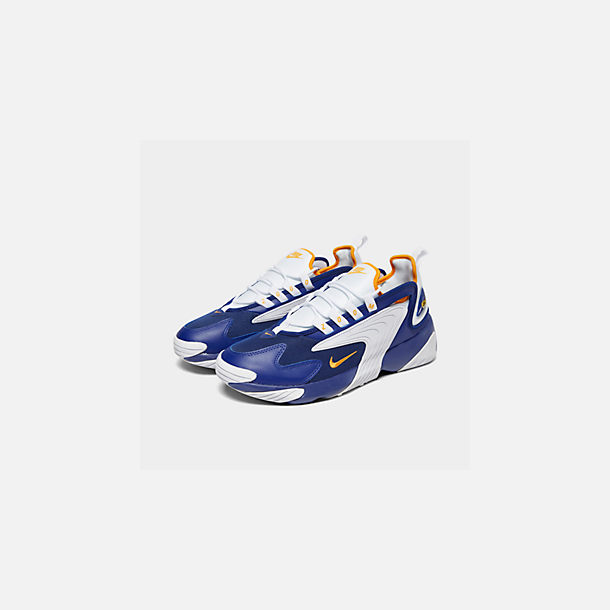 Three Quarter view of Men's Nike Zoom 2K Casual Shoes in Blue/White