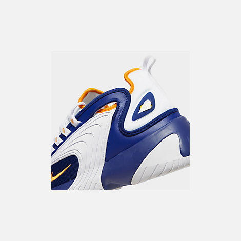 Front view of Men's Nike Zoom 2K Casual Shoes in Blue/White