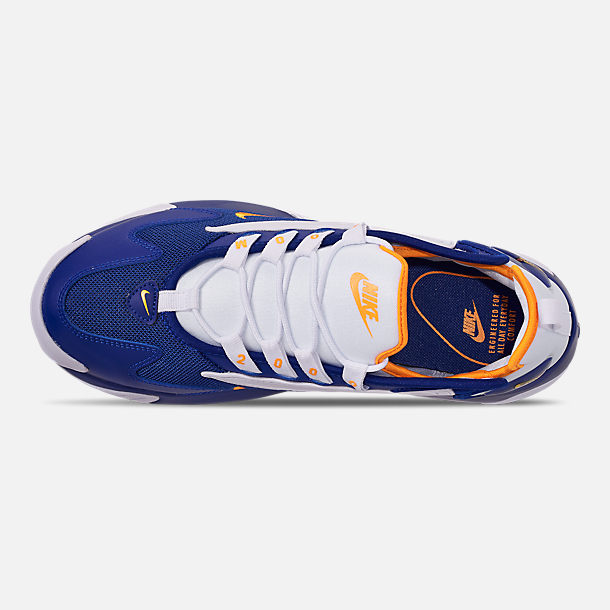 Top view of Men's Nike Zoom 2K Casual Shoes in Blue/White