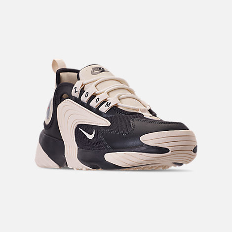 Three Quarter view of Women's Nike Zoom 2K Casual Shoes in Oil Grey/Light Cream