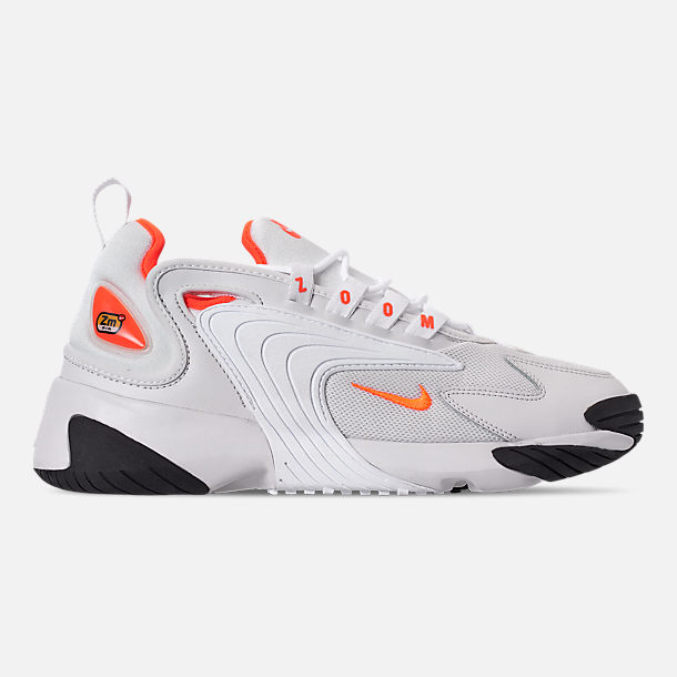 7a1a8c5e2 Right view of Women s Nike Zoom 2K Casual Shoes in Platinum Tint Hyper  Crimson