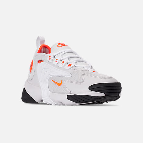 ca4ee141e Three Quarter view of Women s Nike Zoom 2K Casual Shoes in Platinum  Tint Hyper Crimson