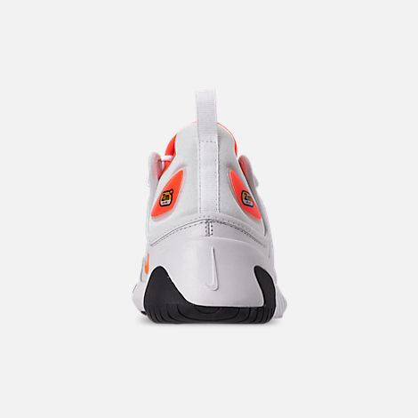 872cf2097 Back view of Women s Nike Zoom 2K Casual Shoes in Platinum Tint Hyper  Crimson