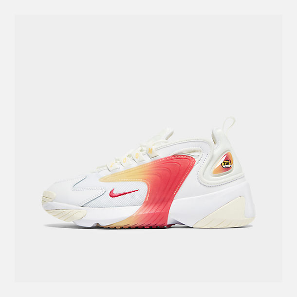 Right view of Women's Nike Zoom 2K Casual Shoes in White/Rush Pink/Sail/Melon Tint