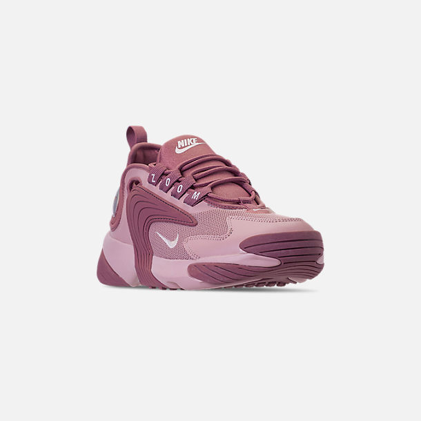 Three Quarter view of Women's Nike Zoom 2K Casual Shoes in Plum Dust/Pale Pink/Plum Chalk