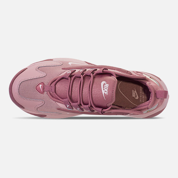 Top view of Women's Nike Zoom 2K Casual Shoes in Plum Dust/Pale Pink/Plum Chalk