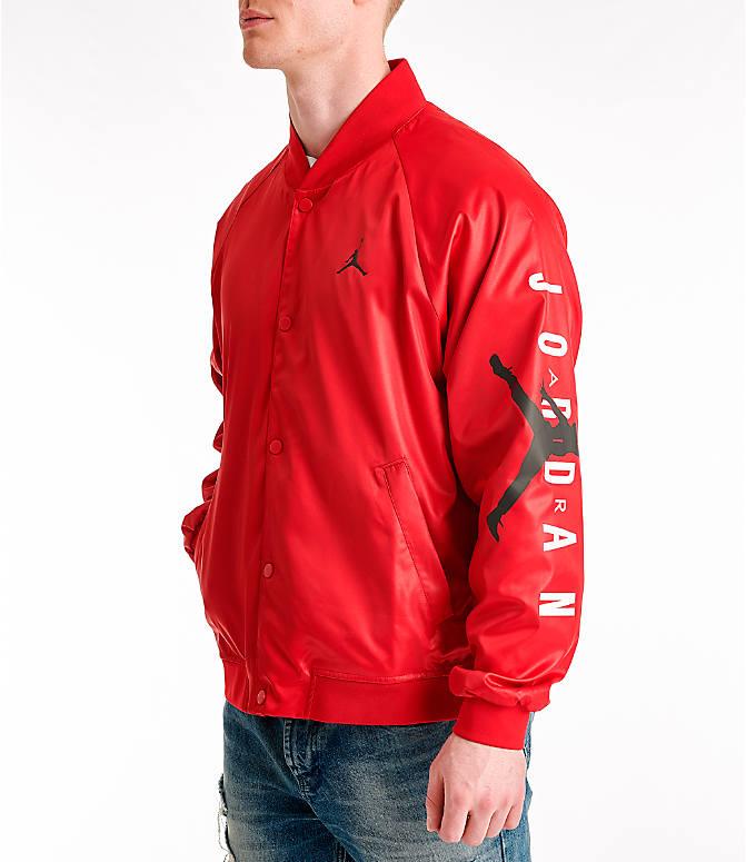 c23510369467a5 Front view of Men s Jordan Jumpman Stadium Jacket in Gym Red Black